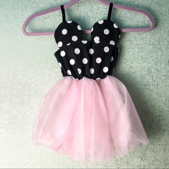 Dresses Minnie Mouse Black White Pink Tutu Dress Poshmark